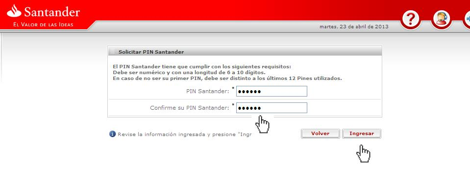 Welcome to santander for Solicitud de chequera
